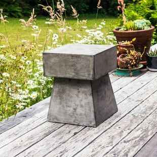 Searching for Mushroom Stone/Concrete Side Table Great deals