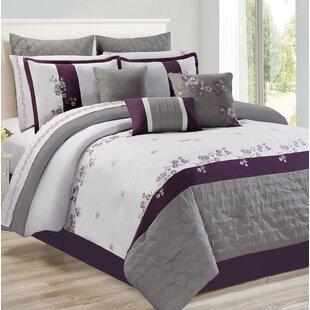 Hodnett Adina Plum Comforter Set