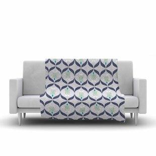 Great choice Neelam Kaur Cool Reminiscence Coral Digital Fleece Blanket ByEast Urban Home