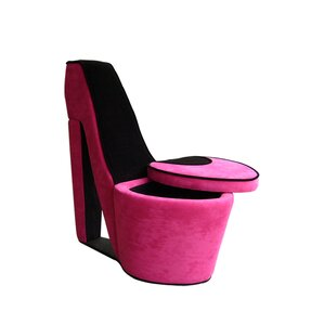 Davey High Heel Storage Lounge Chair by House of Hampton