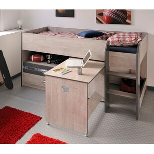 Adhara Twin Low Loft Bed with Drawers
