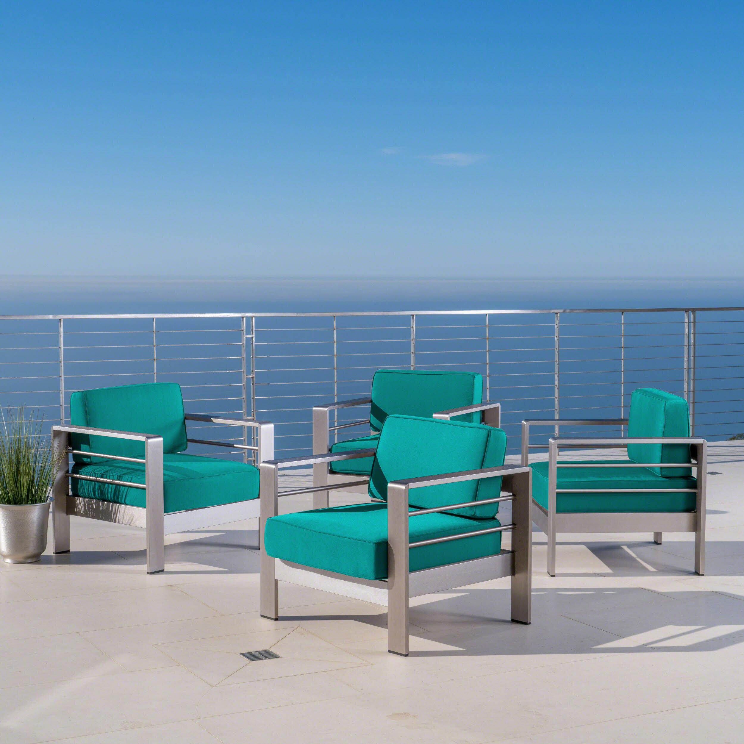 Orren ellis elwyn patio chair with sunbrella cushions wayfair