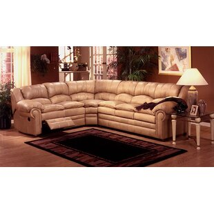 Omnia Leather Riviera Reclining Sectional Sleeper