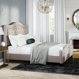 Amoll King Upholstered Standard Bed by Alcott Hill®