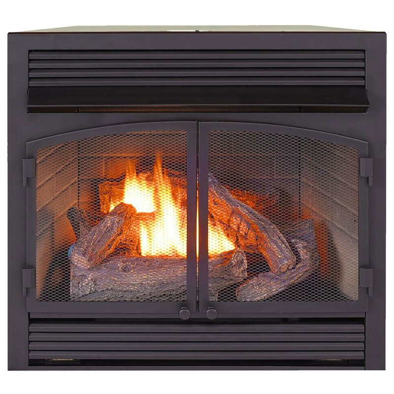 Procom Heating Vent Free Propane Natural Gas Fireplace Insert