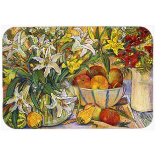 Fruit, Flowers and Vegetables Glass Cutting Board
