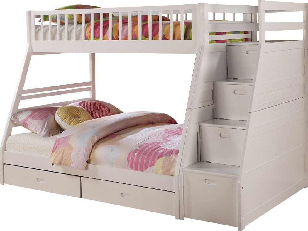 viv rae pierre twin over full bunk bed with storage reviews wayfair. Black Bedroom Furniture Sets. Home Design Ideas