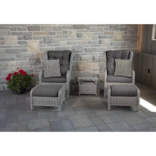 Pilcher 5 Piece Conversation Set with Sunbrella Cushions