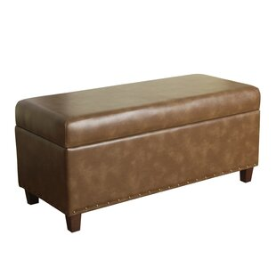 Charlton Home Faux Leather Storage Bench