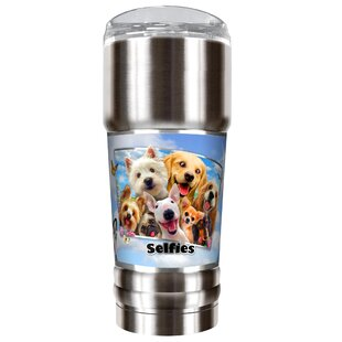 Dog Selfies 32 oz. Stainless Steel Travel Tumbler