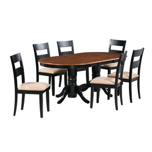 Santino 7 Piece Extendable Solid Wood Dining Set Alcott Hill
