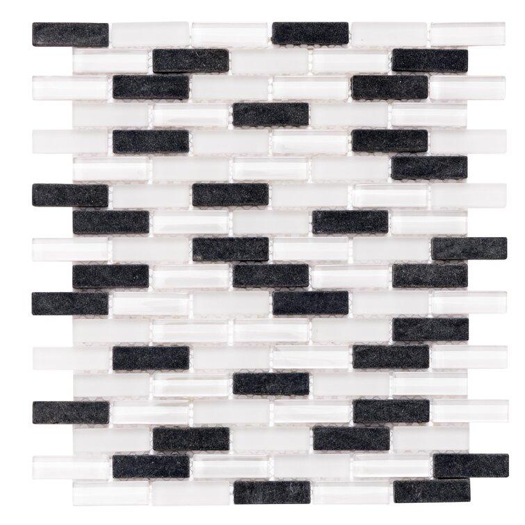 "Victory Brick 1"" x 2"" Glass Mosaic Tile"