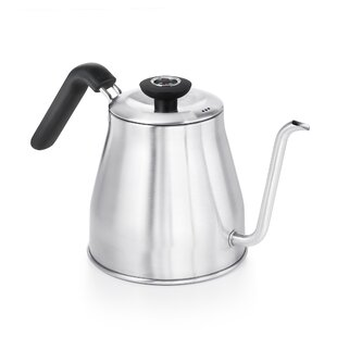 1.05 Qt. Pour Over Stainless Steel Electric Tea Kettle with Thermometer