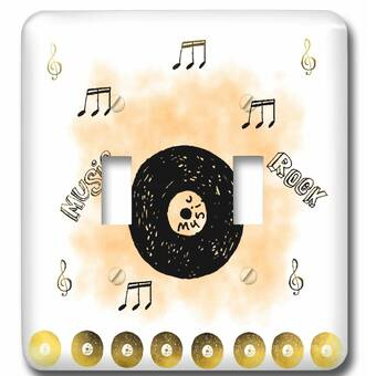 3drose Musical Abstract With 3d Musical Notes On A Bright Gradient 2 Gang Toggle Light Switch Wall Plate Wayfair