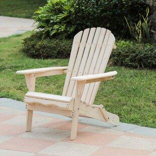 Aydin Solid Wood Folding Adirondack Chair By Highland Dunes