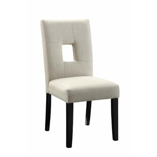 Shamas Wooden Upholstered Dining Chair (Set of 2)