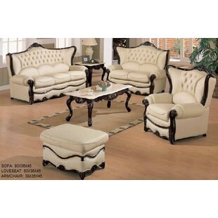 Joseph Louis Home Furnishings Elegant 3 Piece Leather Living Room Set
