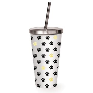 Beecher Paw Prints 16 oz. Stainless Steel Tumbler