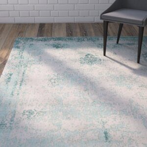 Caruso Classic Vintage Turquoise Area Rug