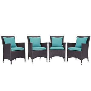 Ryele Deep Seating Chair with Cushion (Set of 4)