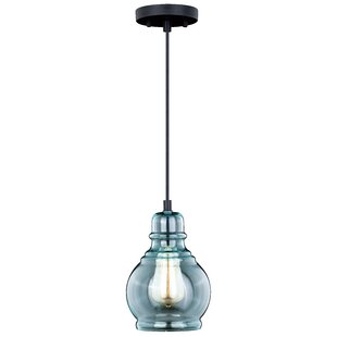 Bungalow Rose Pickett 1-Light Bell Pendant