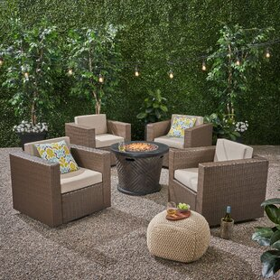 Find Olague Outdoor 4 Piece Multiple Chairs Seating Group with Cushions Affordable