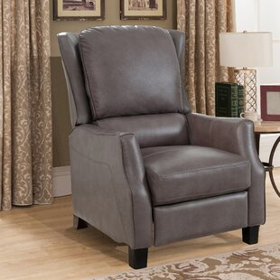 Surles Leather Manual Recliner
