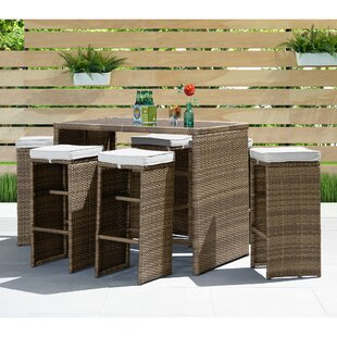 Smathering 7 Piece Bar Height Dining Set with Cushions