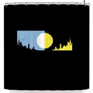 East Urban Home BarmalisiRTB Moon and Sun Shower Curtain