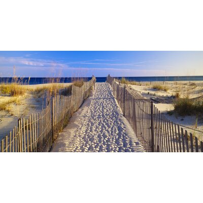 West of the Wind Outdoor Canvas Art All Weather 'Beach Walk' Photographic Print on Wrapped Canvas