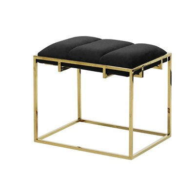 Keithley Glamorous Accent Stool Mercer41 Seat Color: Black