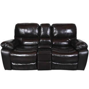 Three Posts Gracehill Leather Reclining Loveseat