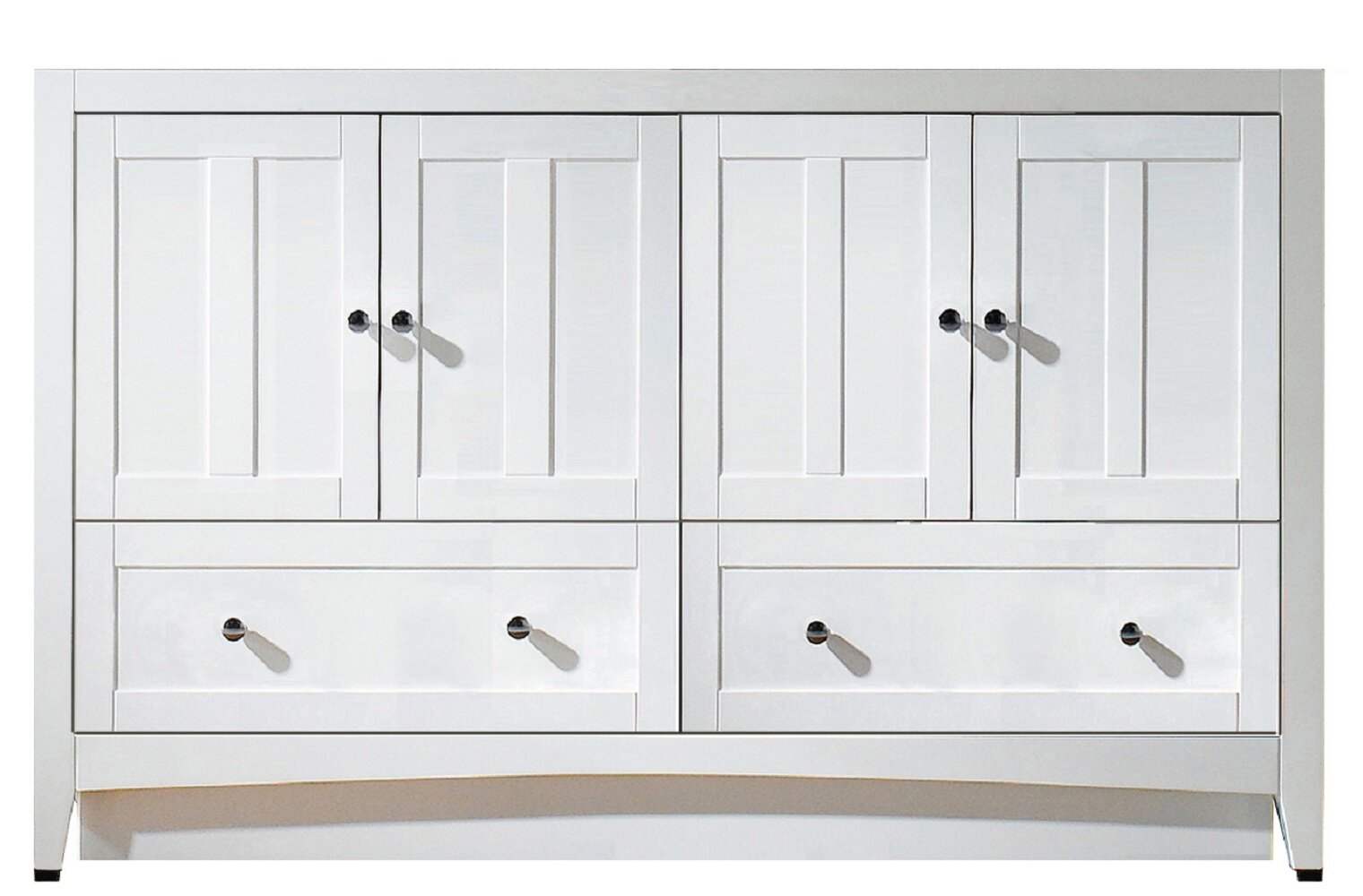 Red Barrel Studio Cruthers 59 Double Bathroom Vanity Base Only In White Wayfair