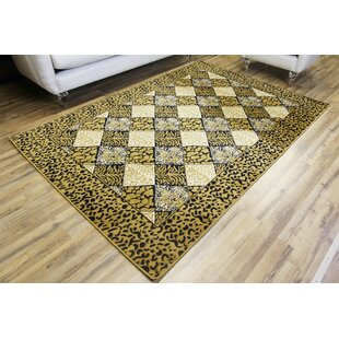 Buying Passion Leopard Gold/Black Area Rug By Beyan Signature