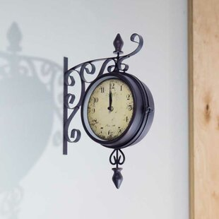 "Hillcrest Double Sided Bistro 8"" Wall Clock"