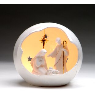 Cosmos Gifts Medium Globe Holy Family Night Light