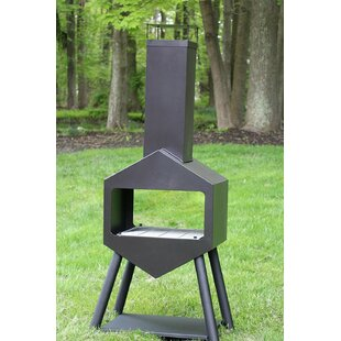 Patio Steel Wood Burning Chiminea By Home Life