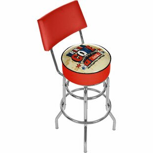 Coca Cola Brazil 31 Swivel Bar Stool Trademark Global