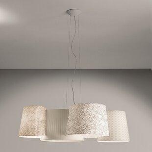 Burlingame 4-Light Geometric Chandelier by Orren Ellis