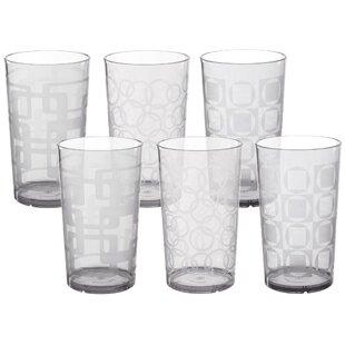 Lorenzo 6 Piece 24 oz. Acrylic Drinking Glass Set
