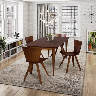 Burkey 5 Piece Solid Wood Dining Set