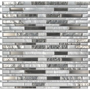 Adara Interlocking Mesh-Mounted Random Sized Glass Mosaic Tile