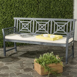 Garrity 3 Seat Acacia and Polyester Garden Bench by Darby Home Co