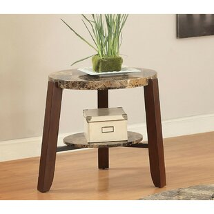 Leitha End Table by Fleur De Lis Living