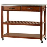 Haslingden Kitchen Cart with Stainless Steel Top by Three Posts