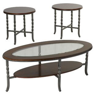Vance 3 Piece Coffee Table Set Three Posts