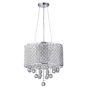 House of Hampton Ginnia 4-Light Crystal Chandelier