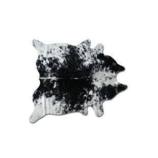 Great Price Abhinav Hand Woven Black/White Cowhide Area Rug By 17 Stories