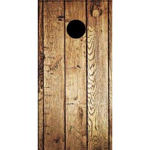 Weathered Wood Cornhole Board