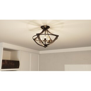 Loon Peak Reimers 3-Light Semi Flush Mount